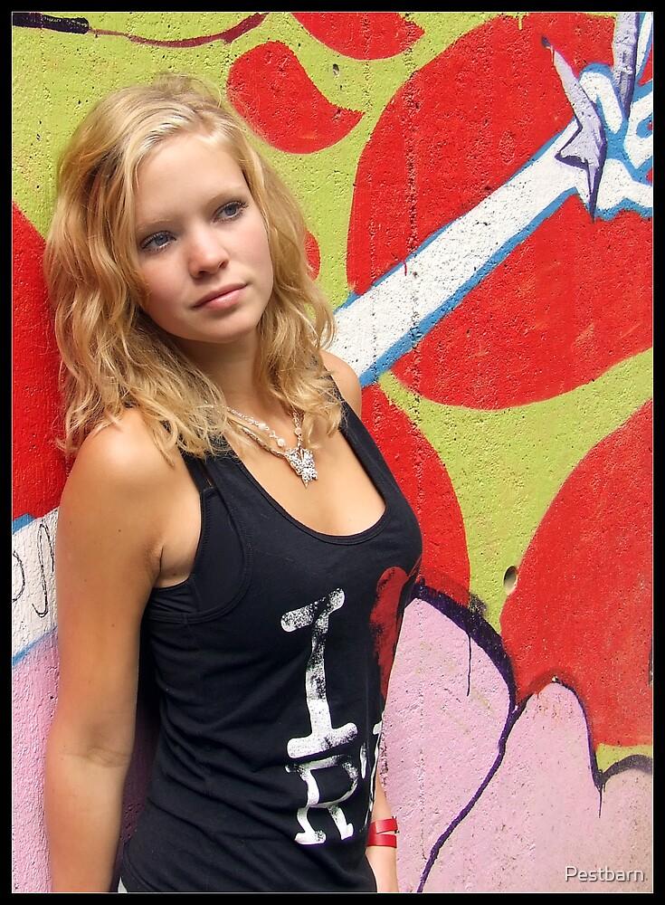 At The Wall Of Graffiti by Pestbarn