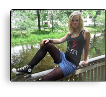 By The Rivulet Metal Print