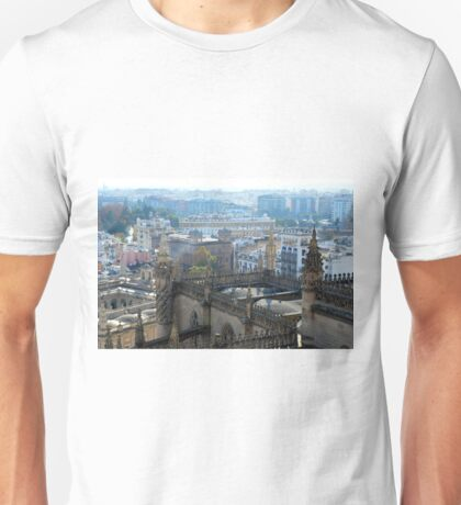 Panoramic view of Sevilla, Spain from the Cathedral Unisex T-Shirt