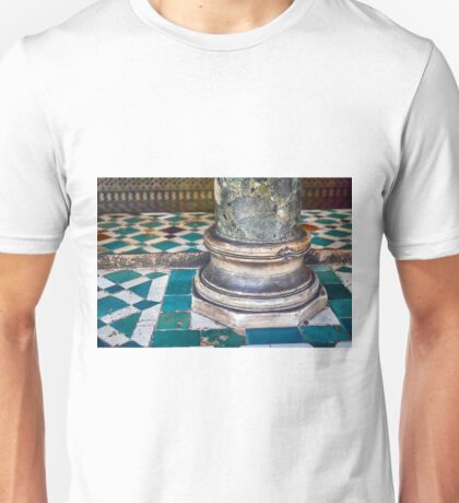 Base of column in Spanish style with blue marble decoration Unisex T-Shirt