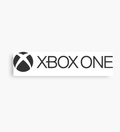 xbox one grey logo Canvas Print