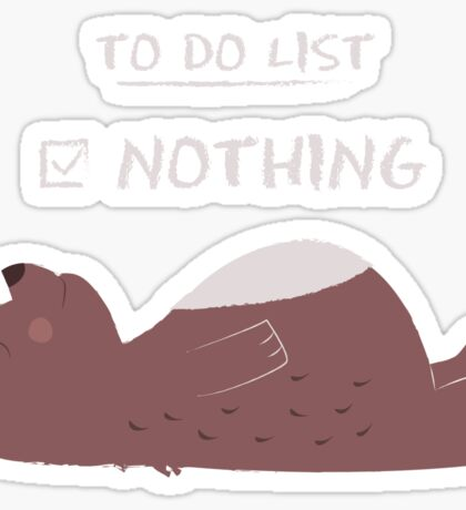 To do list: Nothing Sticker