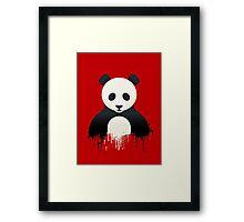 Panda Graffiti red Framed Print