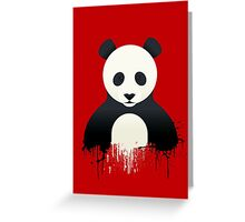 Panda Graffiti red Greeting Card