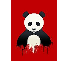 Panda Graffiti red Photographic Print