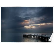Light on Corio Bay,Portarlington Poster
