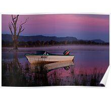 Mauve Tones, Lake Fyans Poster