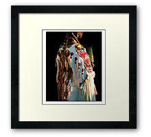 Woman Pow-wow Dancer Framed Print