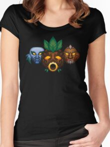Faces of the Hero Women's Fitted Scoop T-Shirt