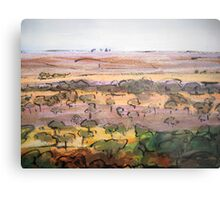 Outback Plains Metal Print