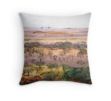 Outback Plains Throw Pillow