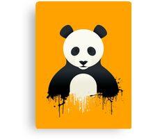 Panda Graffiti yellow Canvas Print