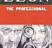 LEON hand drawn movie poster in pencil by theexiledelite