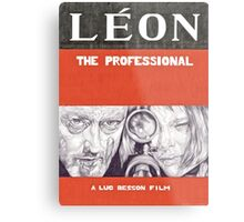 LEON hand drawn movie poster in pencil Metal Print