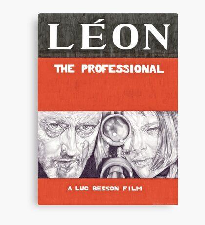 LEON hand drawn movie poster in pencil Canvas Print