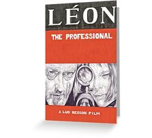 LEON hand drawn movie poster in pencil Greeting Card