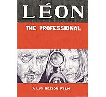 LEON hand drawn movie poster in pencil Photographic Print