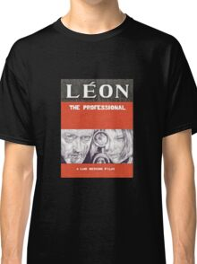 LEON hand drawn movie poster in pencil Classic T-Shirt