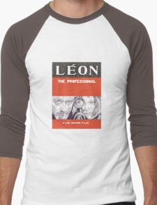 LEON hand drawn movie poster in pencil Men's Baseball ¾ T-Shirt
