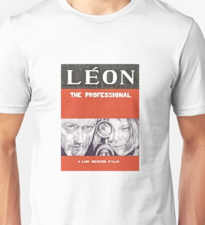 LEON hand drawn movie poster in pencil Unisex T-Shirt