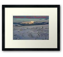 Ice Age Christmas Card Framed Print