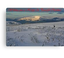 Ice Age Christmas Card Canvas Print