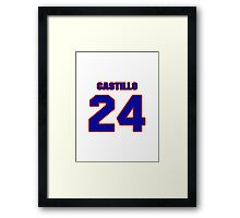 National baseball player Alberto Castillo jersey 24 Framed Print