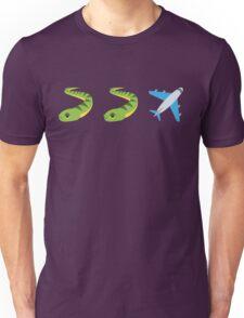 Snakes on a Plane Emoji Graphic Unisex T-Shirt