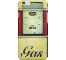 Retro Vintage Gasoline Pump iPhone Case/Skin