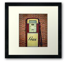 Retro Vintage Gasoline Pump Framed Print