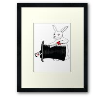 Rabbit vs. Magician Framed Print