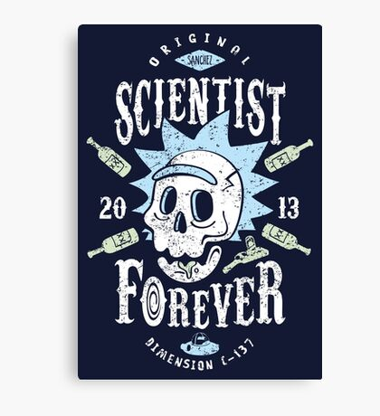 Scientist Forever Canvas Print