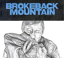 BROKEBACK MOUNTAIN hand drawn movie poster in pencil by theexiledelite