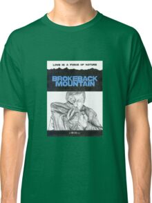 BROKEBACK MOUNTAIN hand drawn movie poster in pencil Classic T-Shirt