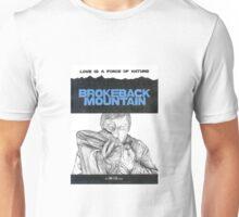 BROKEBACK MOUNTAIN hand drawn movie poster in pencil Unisex T-Shirt