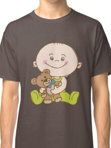 Baby Play With Bear Classic T-Shirt