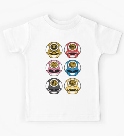 Mighty Morphin Power Shrooms - V2 Kids Tee