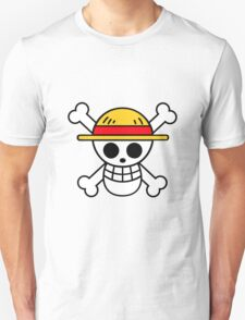 Straw Hat Luffy's Pirate Flag Unisex T-Shirt