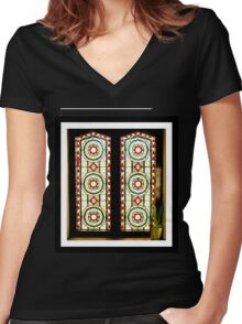 A Window in Henley Women's Fitted V-Neck T-Shirt