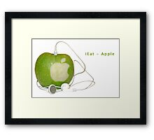 iEat - Apple Framed Print