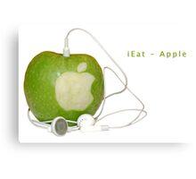 iEat - Apple Metal Print