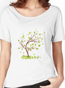 Green tree with leaves Women's Relaxed Fit T-Shirt
