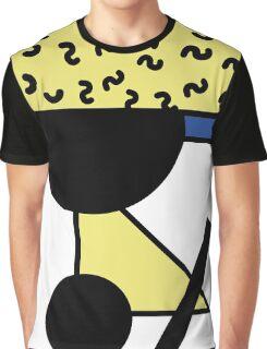 Memphis 80's Design Black, Yellow, Blue, Pattern Graphic T-Shirt