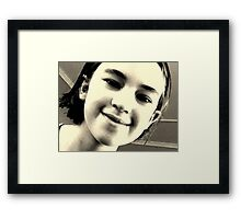 Butterfly Closeup Balck and White Framed Print