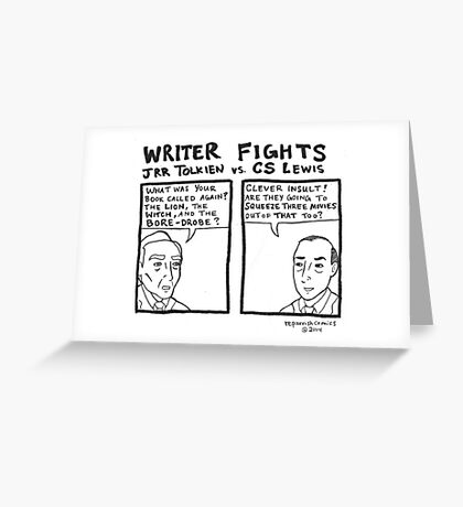 Writer Fights - Tolkien vs. Lewis Greeting Card
