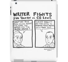 Writer Fights - Tolkien vs. Lewis iPad Case/Skin