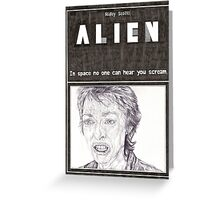 ALIEN hand drawn movie poster in pencil Greeting Card