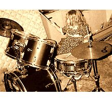 Drummer Photographic Print