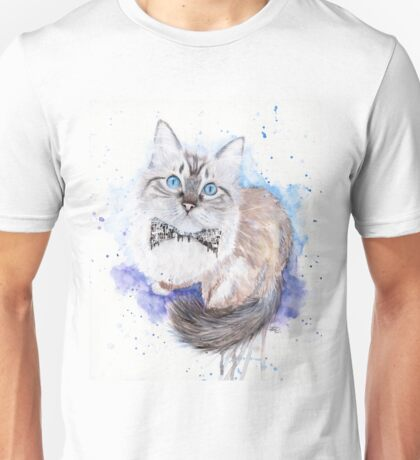 watercolour ragdoll cat Unisex T-Shirt