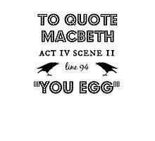 Macbeth Photographic Print